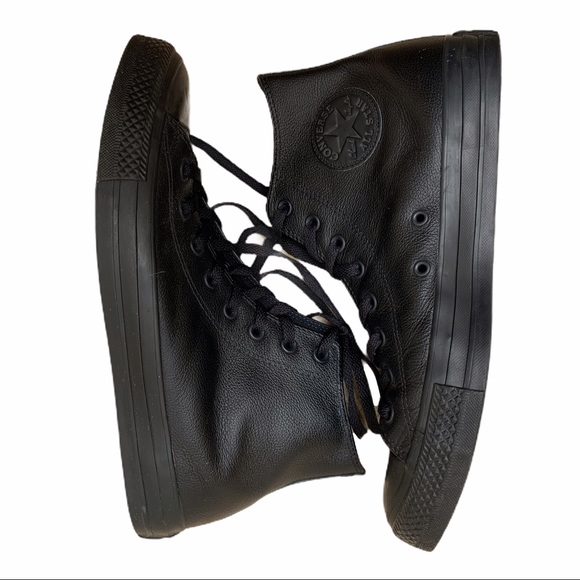 Converse Other - Converse Chuck Taylor all black Leather High Tops
